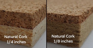 Natural cork 1/4 inches and 1/8 inches for bulletin board.